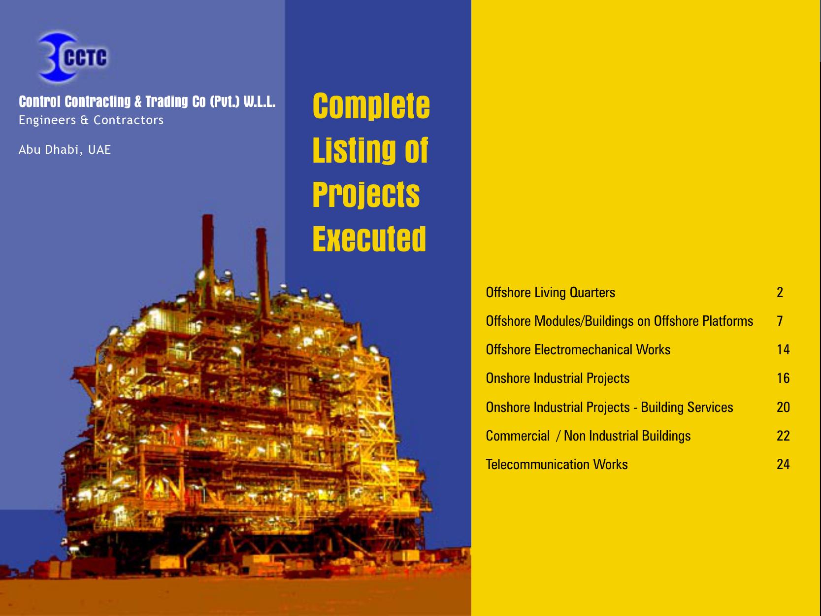 Project elaborations - CCTC Engineering Contracting Abu Dhabi UAE