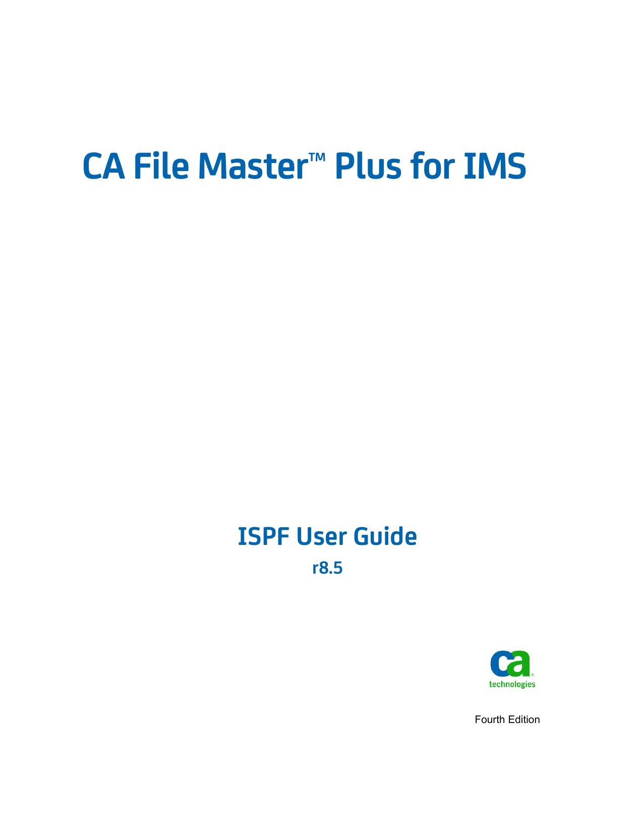 CA File Master Plus for IMS ISPF User Guide | manualzz com
