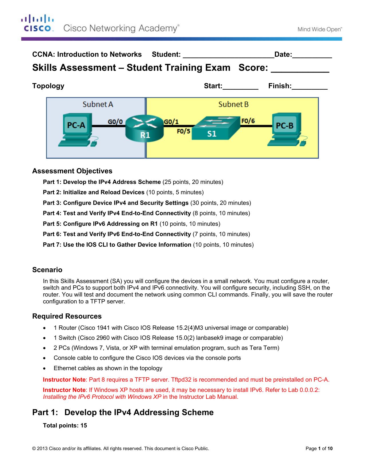 Skills Assessment – Student Training Exam Score | manualzz com