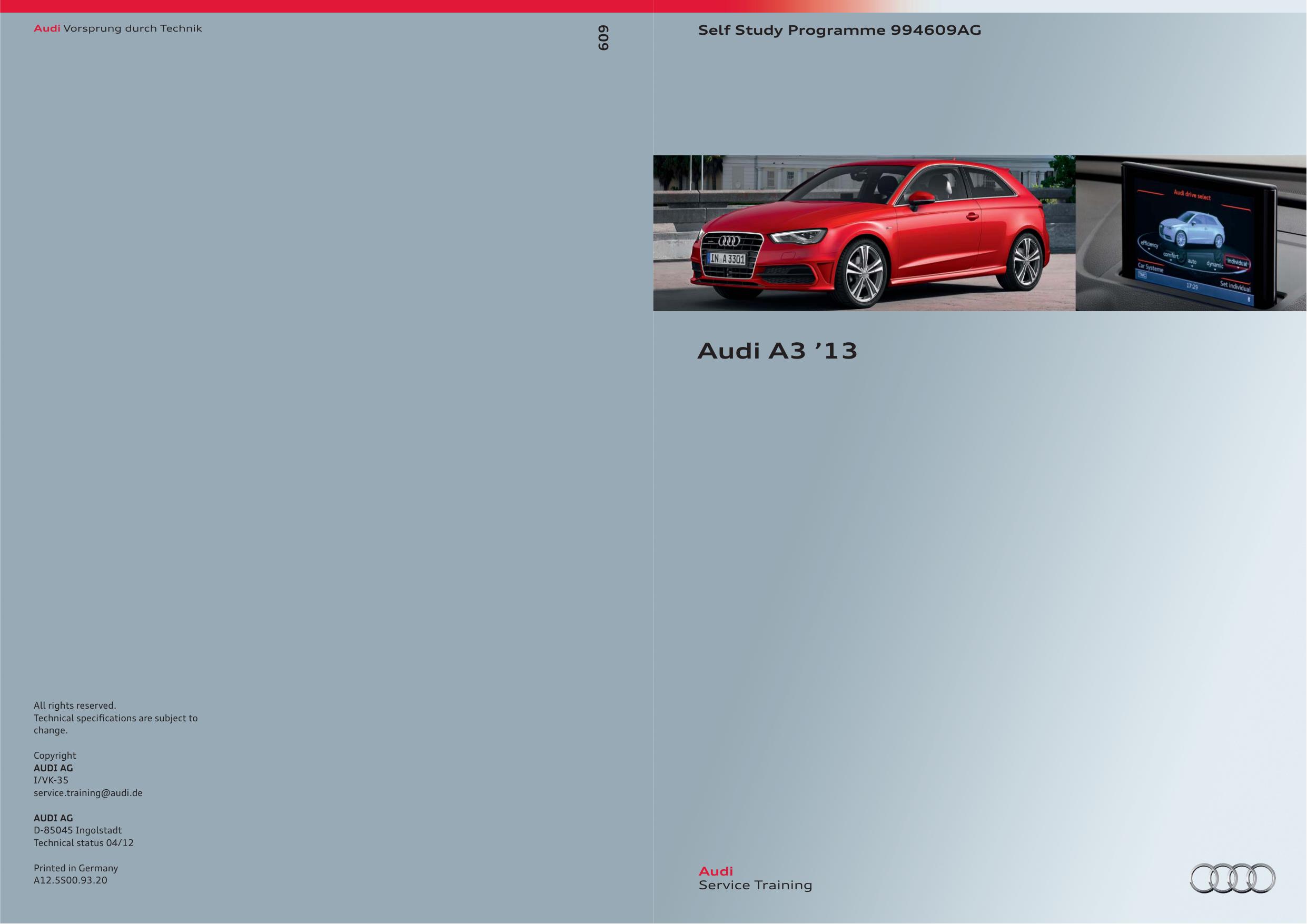 Audi A3 `13 - DataRunners | manualzz com