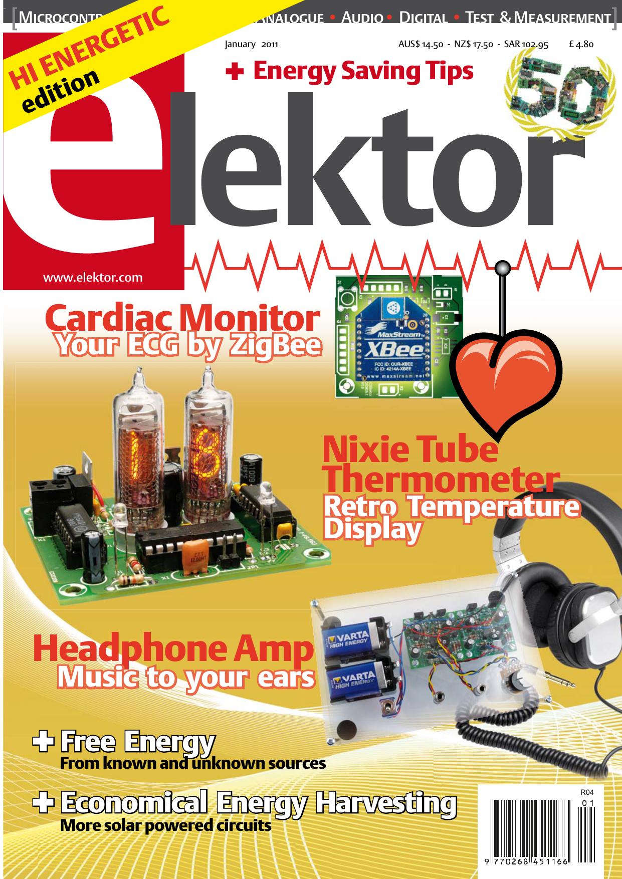 Headphone Amp Nixie Tube Thermometer Cardiac Monitor