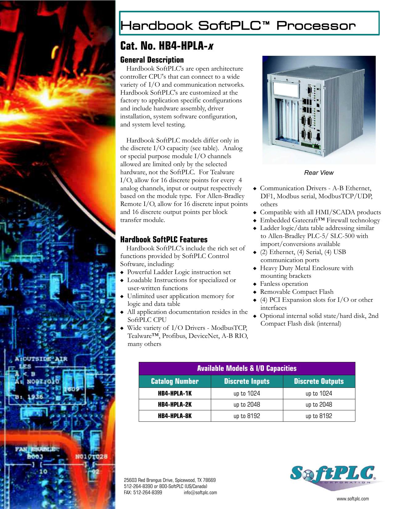 Hardbook SoftPLC™ Processor Cat  No  HB4-HPLA-x | manualzz com