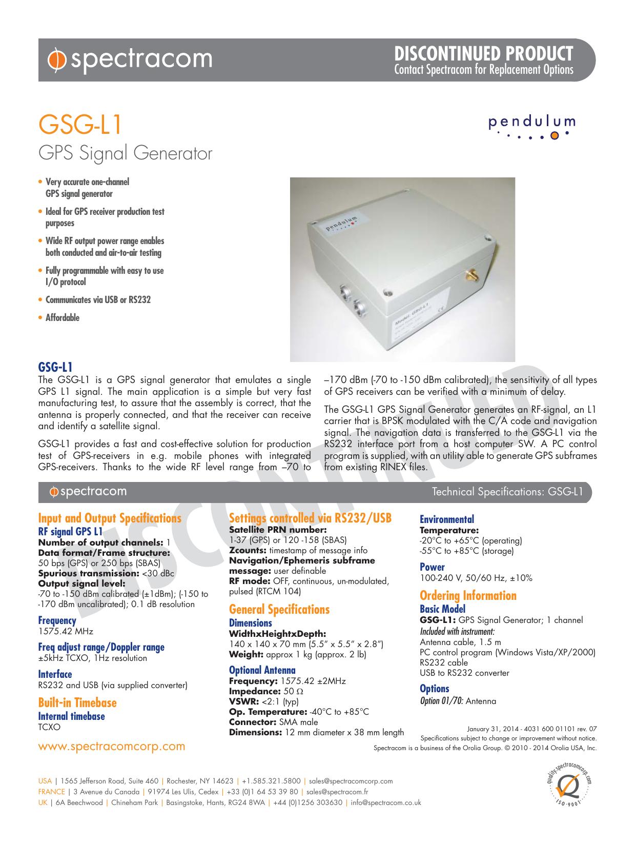GSG-L1 - Spectracom | manualzz com