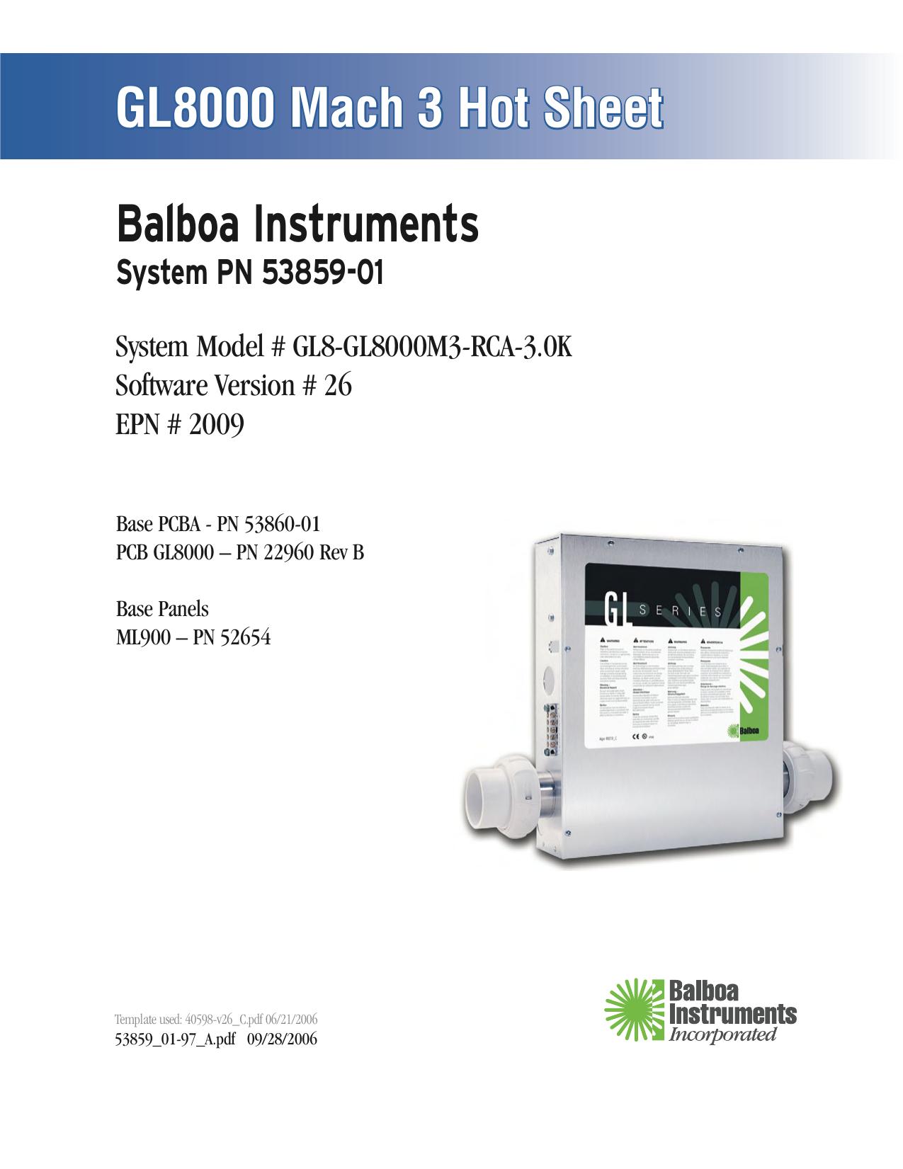 Balboa GL8000 Mach 3 v26 Hot Sheet   manualzz.com on