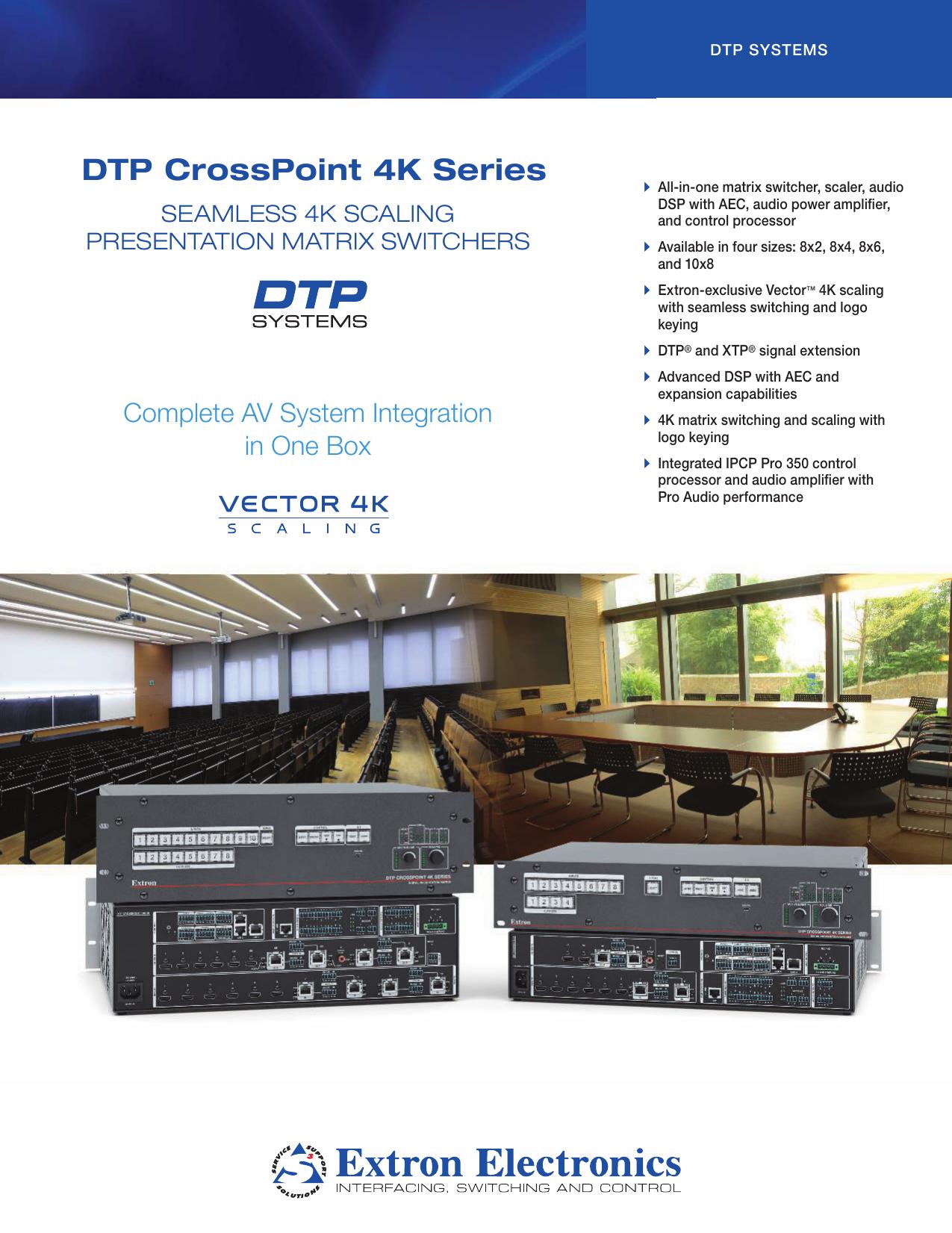 DTP CrossPoint Series 4K - EQ   manualzz com