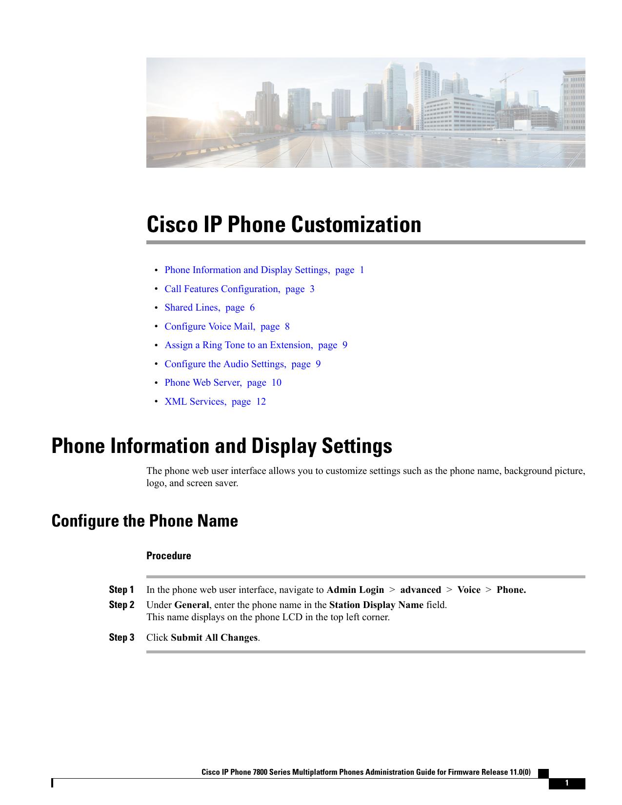 Cisco IP Phone Customization | manualzz com