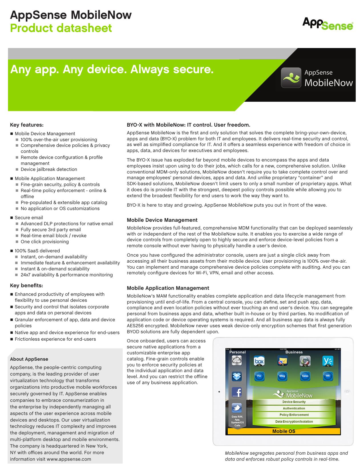Any app  Any device  Always secure  AppSense | manualzz com