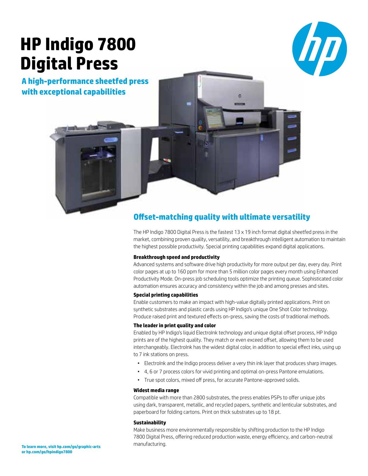 HP Indigo 7800 Digital Press   manualzz com