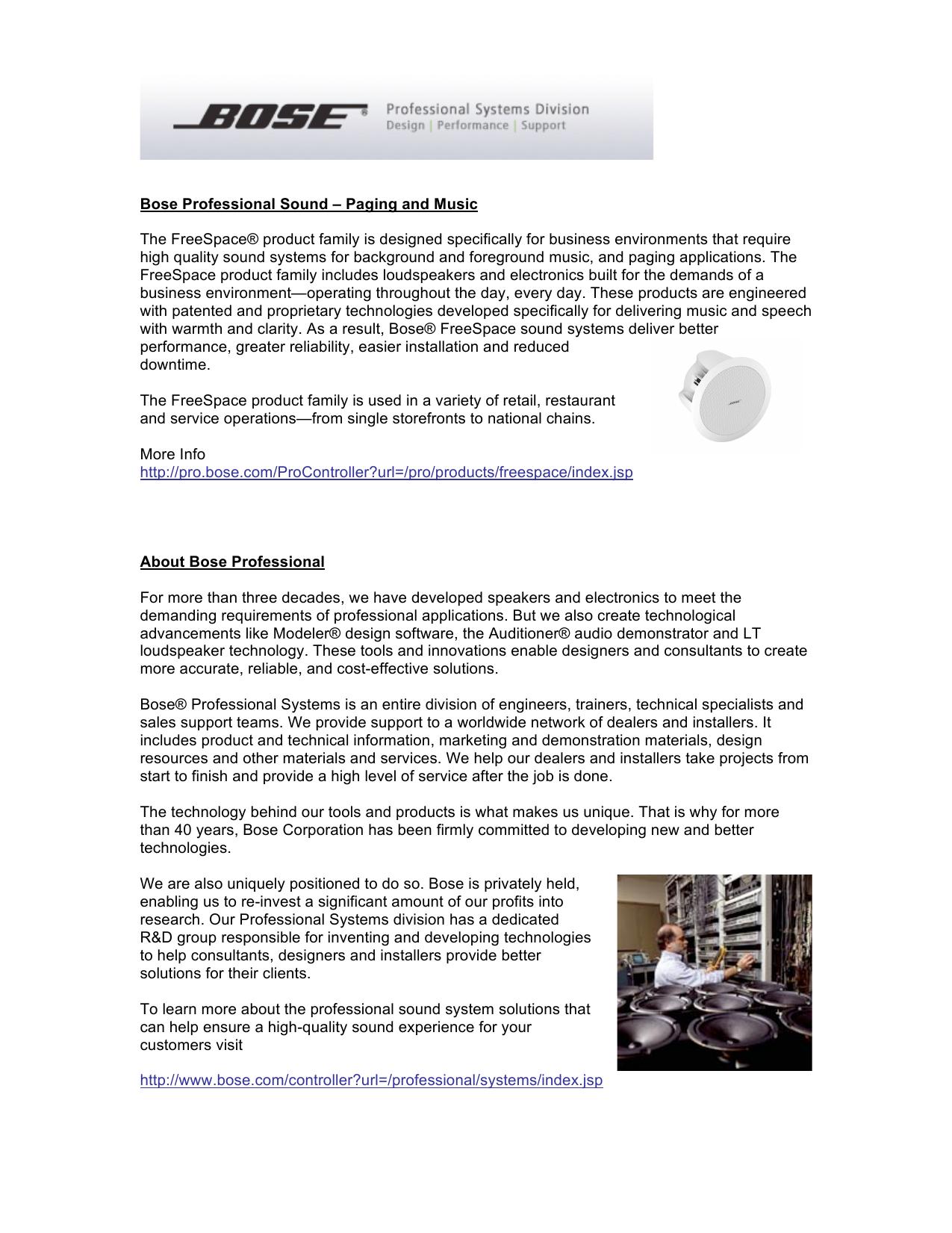 Bose Professional Sound - Prime Communications Services Ltd