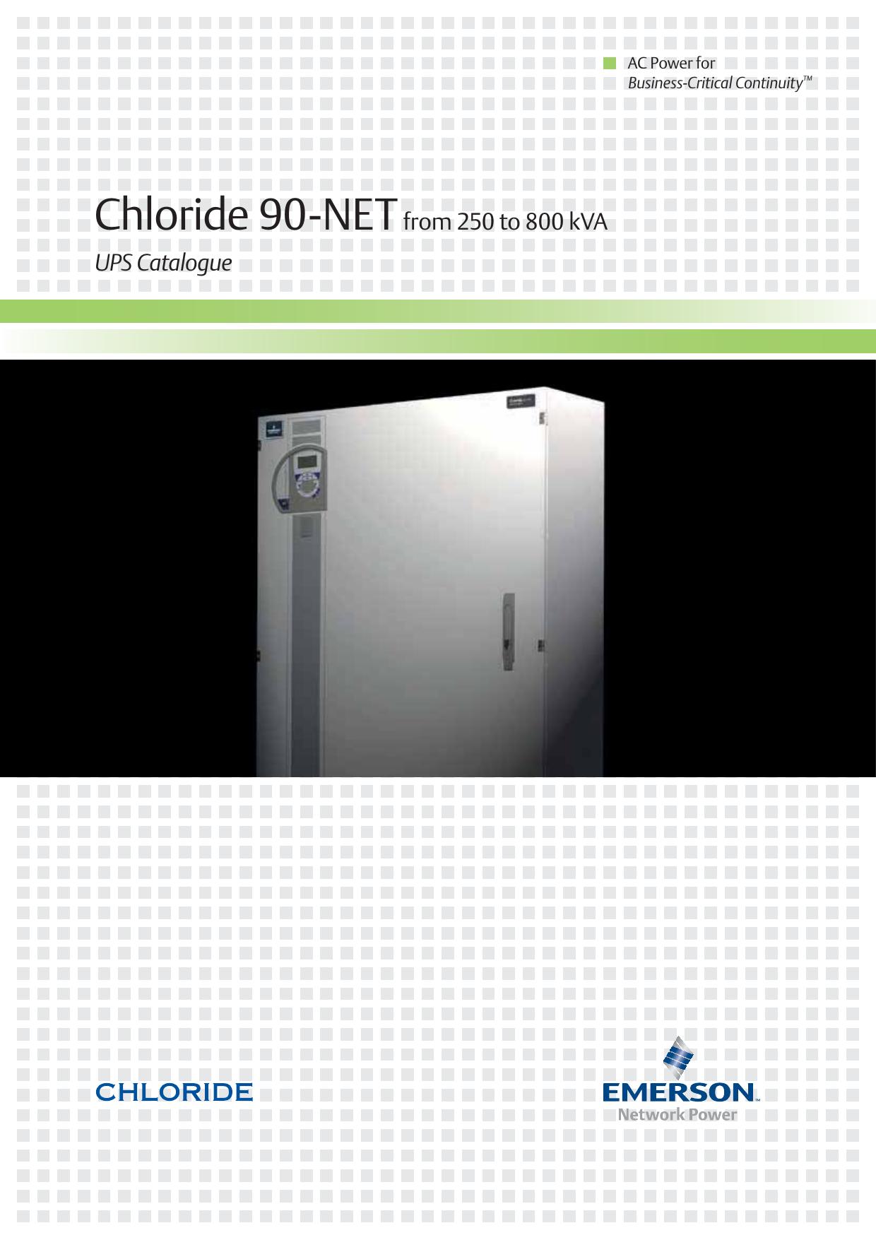 Chloride 90 Netfrom 250 To 800 Kva Ups Catalogue Manualzz