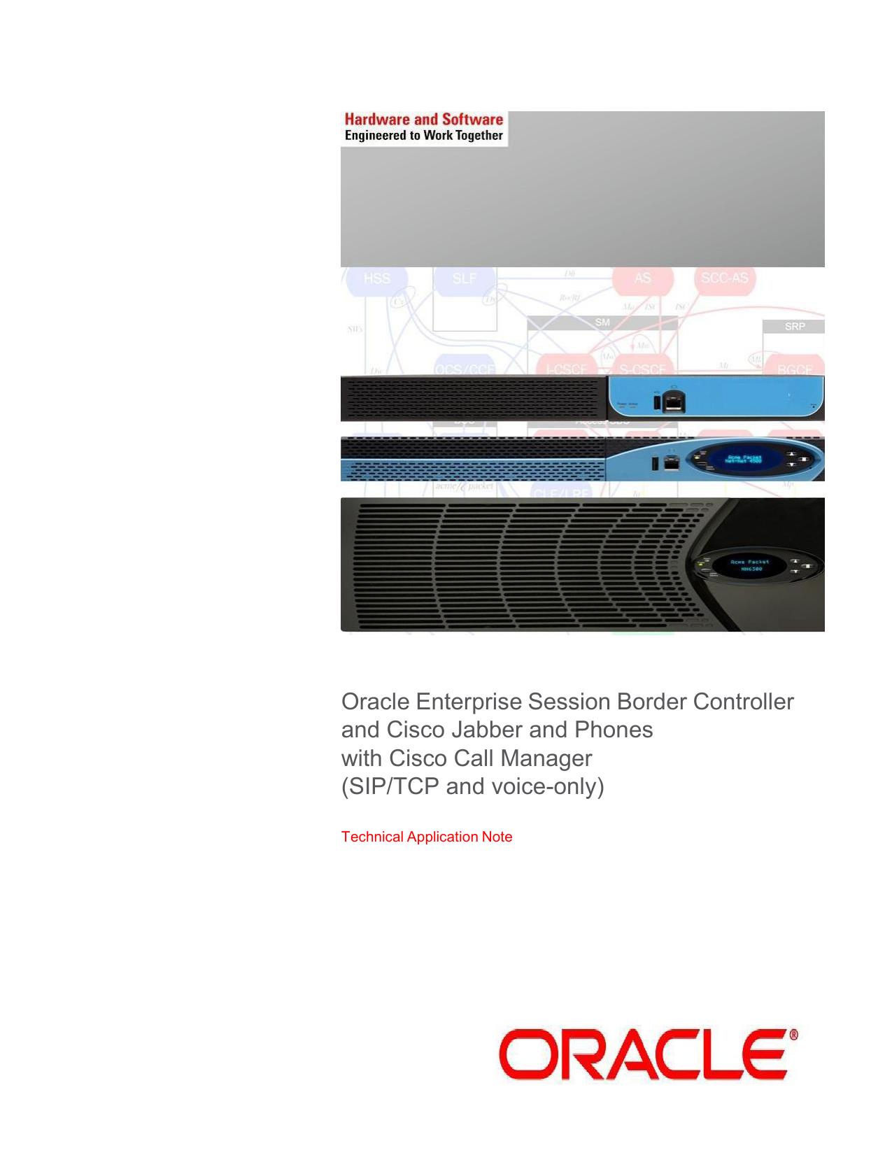 Oracle Enterprise Session Border Controller and Cisco Jabber