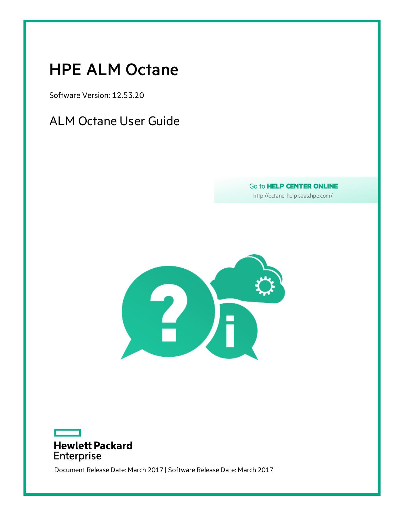 HPE ALM Octane User Guide - Octane Help Center | manualzz com