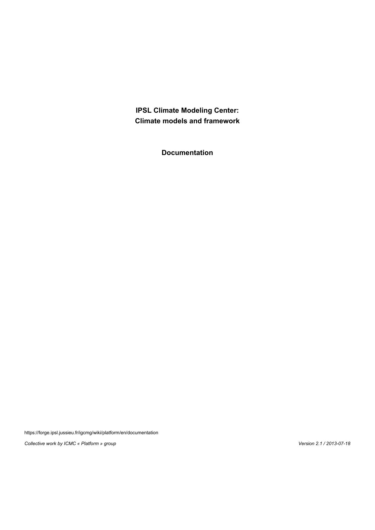 Ipsl Climate Modeling Center Initial Tds Installation Catalog File Manualzz