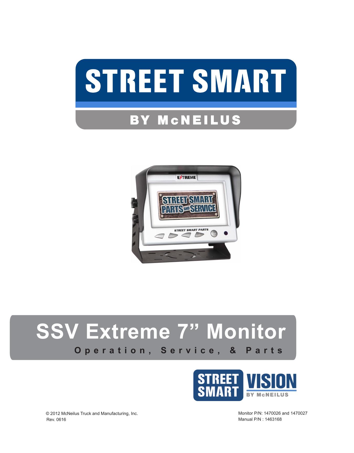 Ssv Wiring Diagram Of Ambulance Schematic Diagrams Schematics Works Mcneilus Side Loader Extreme 7u201d Monitor Manualzz