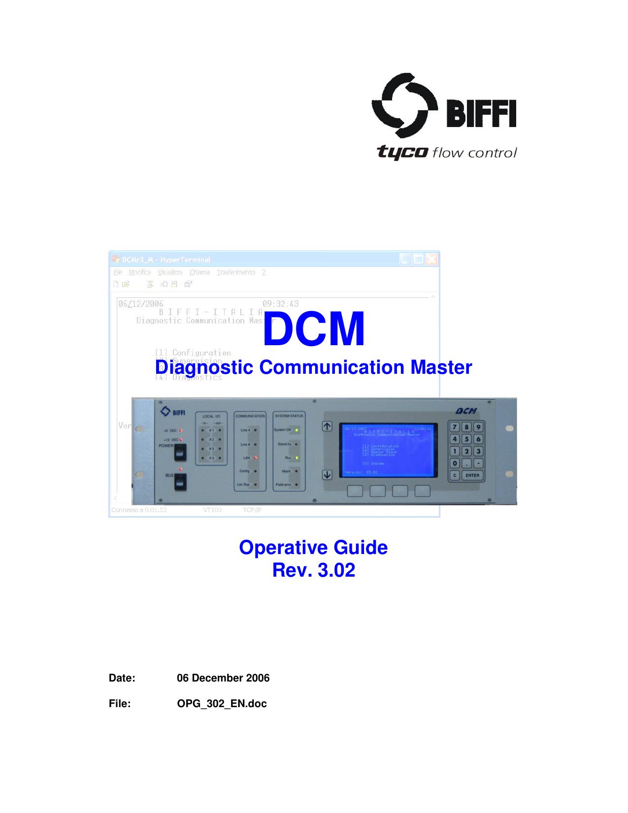DCM Diagnostic Communication Master Operative Guide Rev. 3.02 | manualzz.com