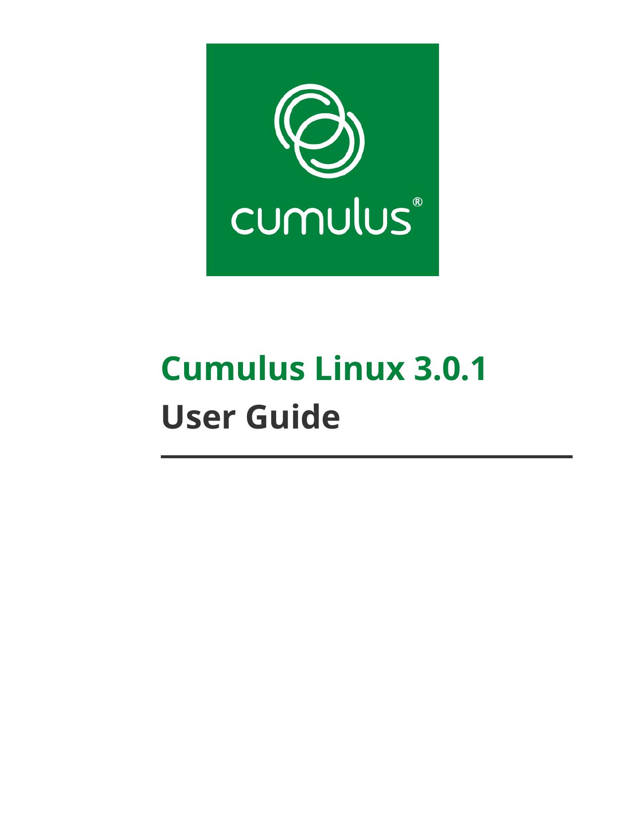 Cumulus Linux 3 0 1 User Guide | manualzz com