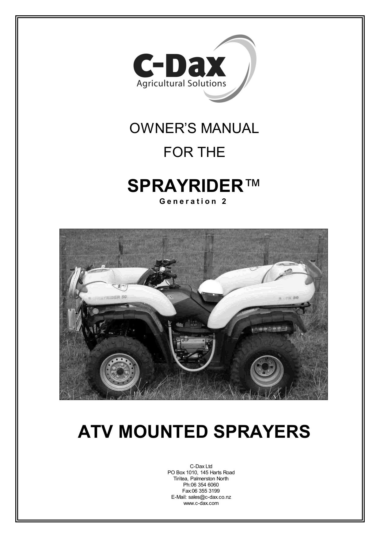Fantastic Sprayrider Atv Mounted Sprayers Manualzz Com Home Interior And Landscaping Ymoonbapapsignezvosmurscom