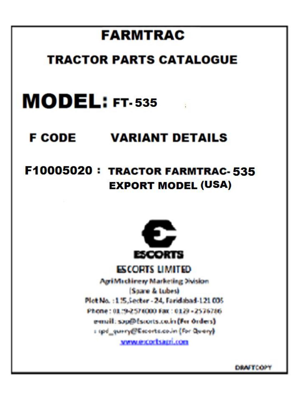 farmtrac - 435 / 535 - Cross border tradex | manualzz.com on