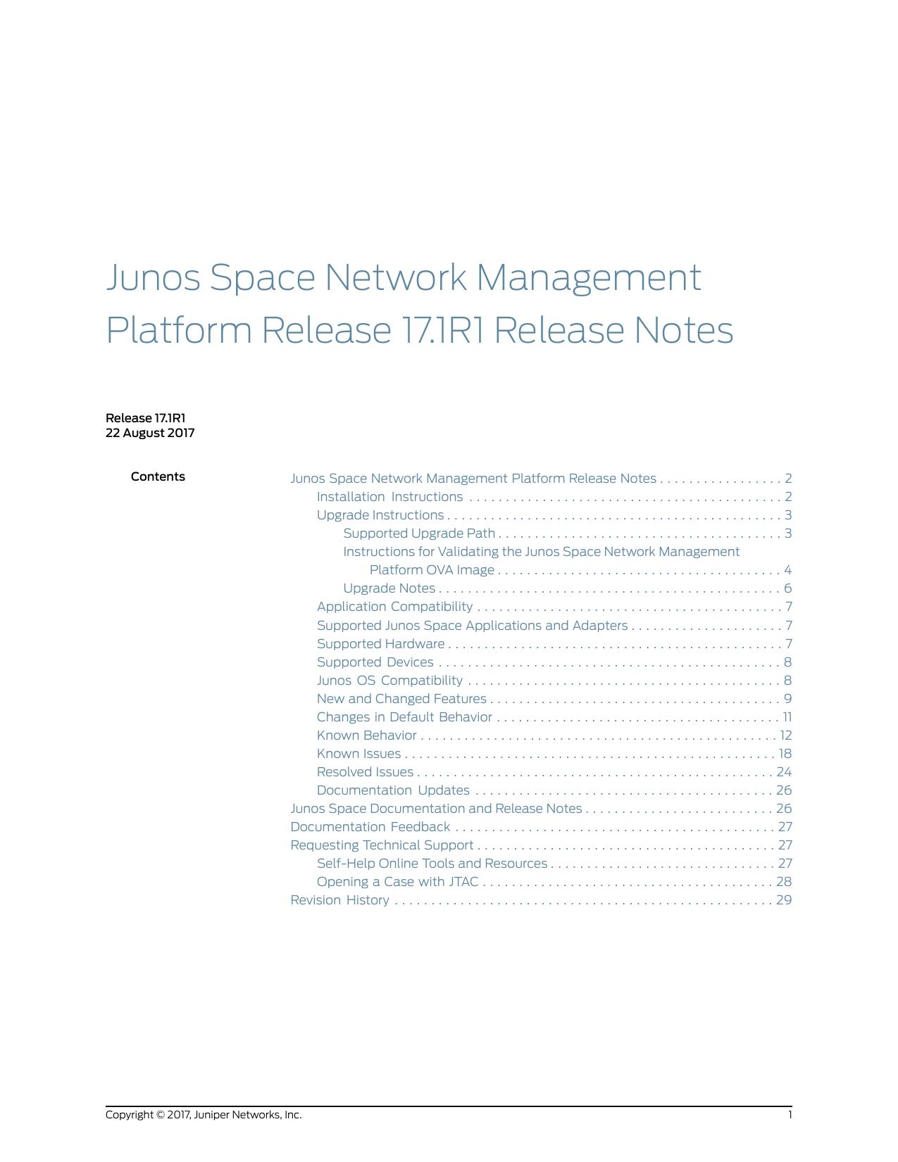 Junos Space Network Management Platform | manualzz com