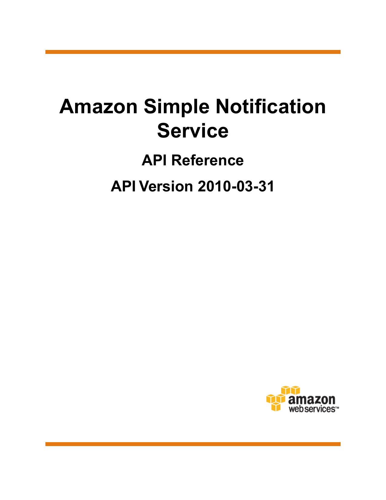Amazon SNS API - Amazon Web Services | manualzz com