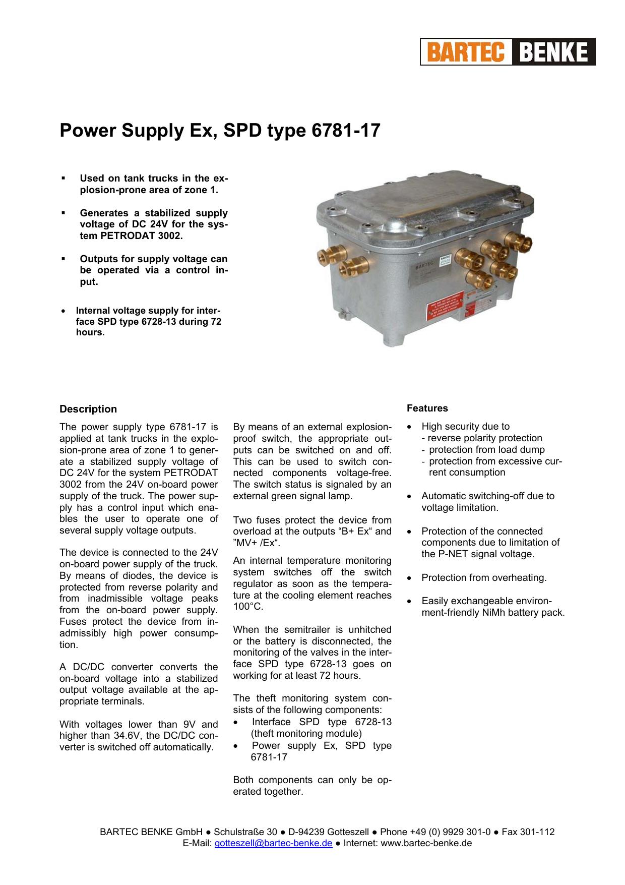 Power Supply Ex Spd Type 6781 17 Switching Voltage Regulator Types