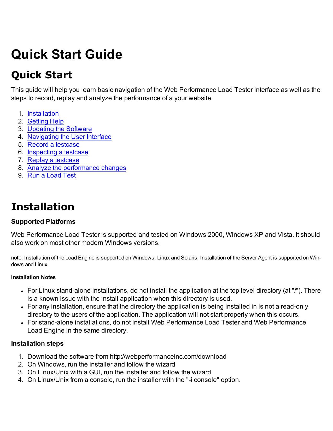 Web Performance Load Tester 3 6 manual | manualzz com