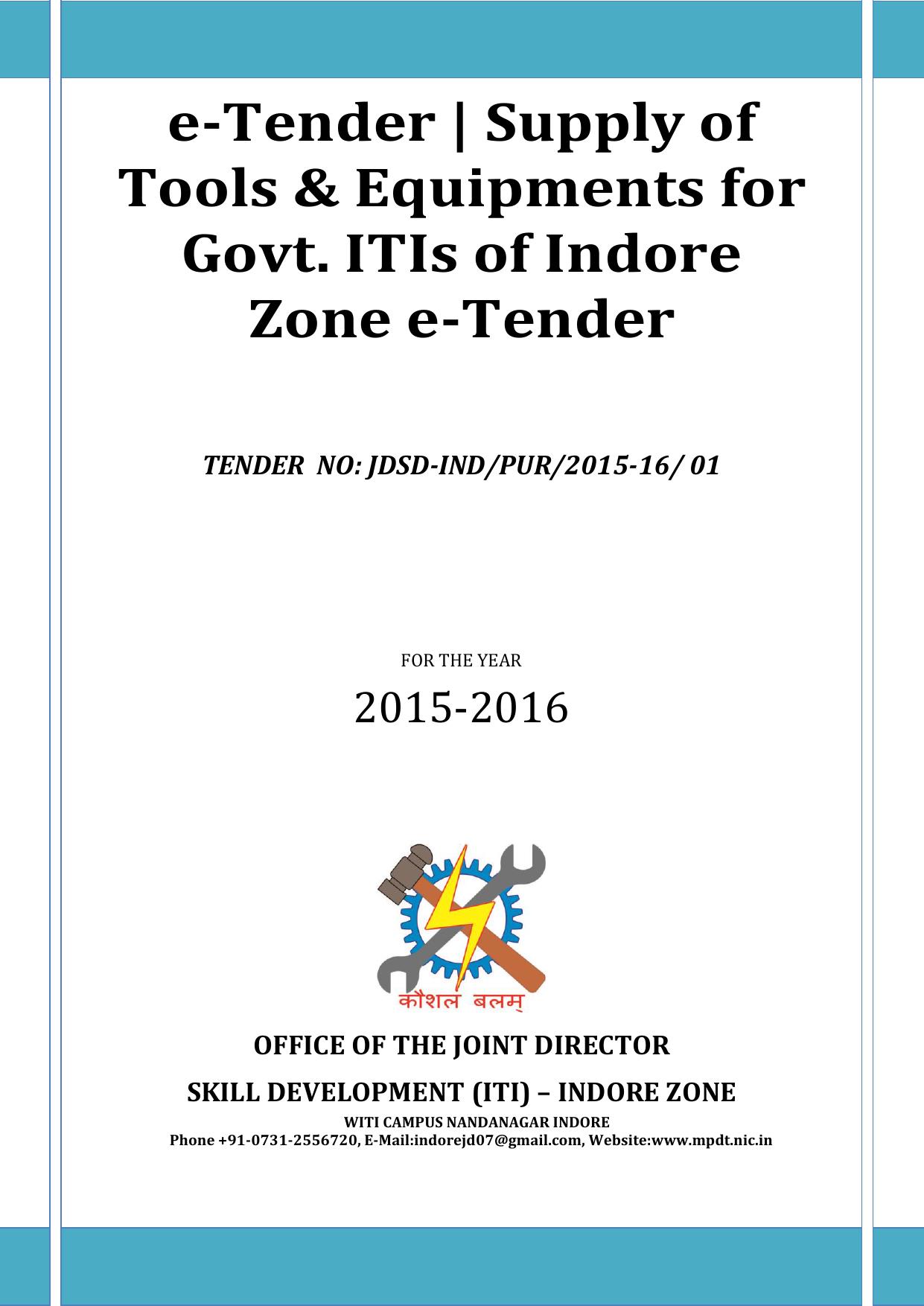 E Tender Madhya Pradesh Skill Development Mission Ac Inverter Circuit Sg3524 230v Invertor Ups 12v