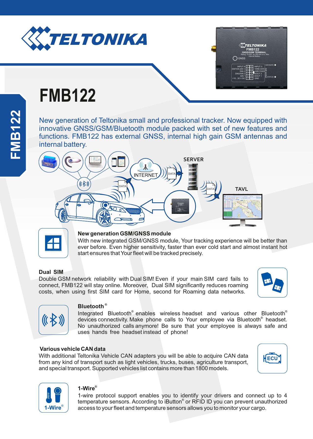 FMB122 - Teltonika | manualzz com