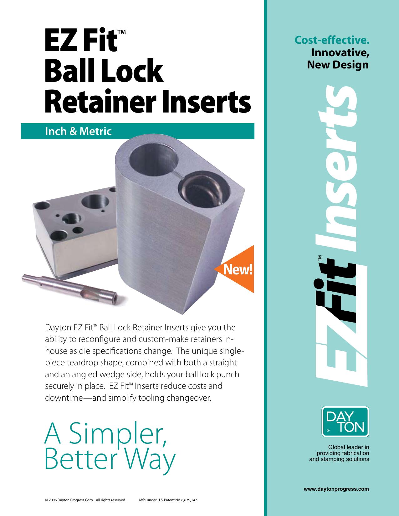 EZ Fit™ Ball Lock Retainer Inserts | manualzz com