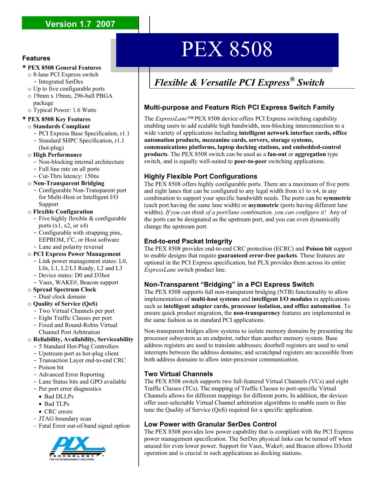 PEX8508-AC25BIG - PLX Technology - Iiic Cc   manualzz com