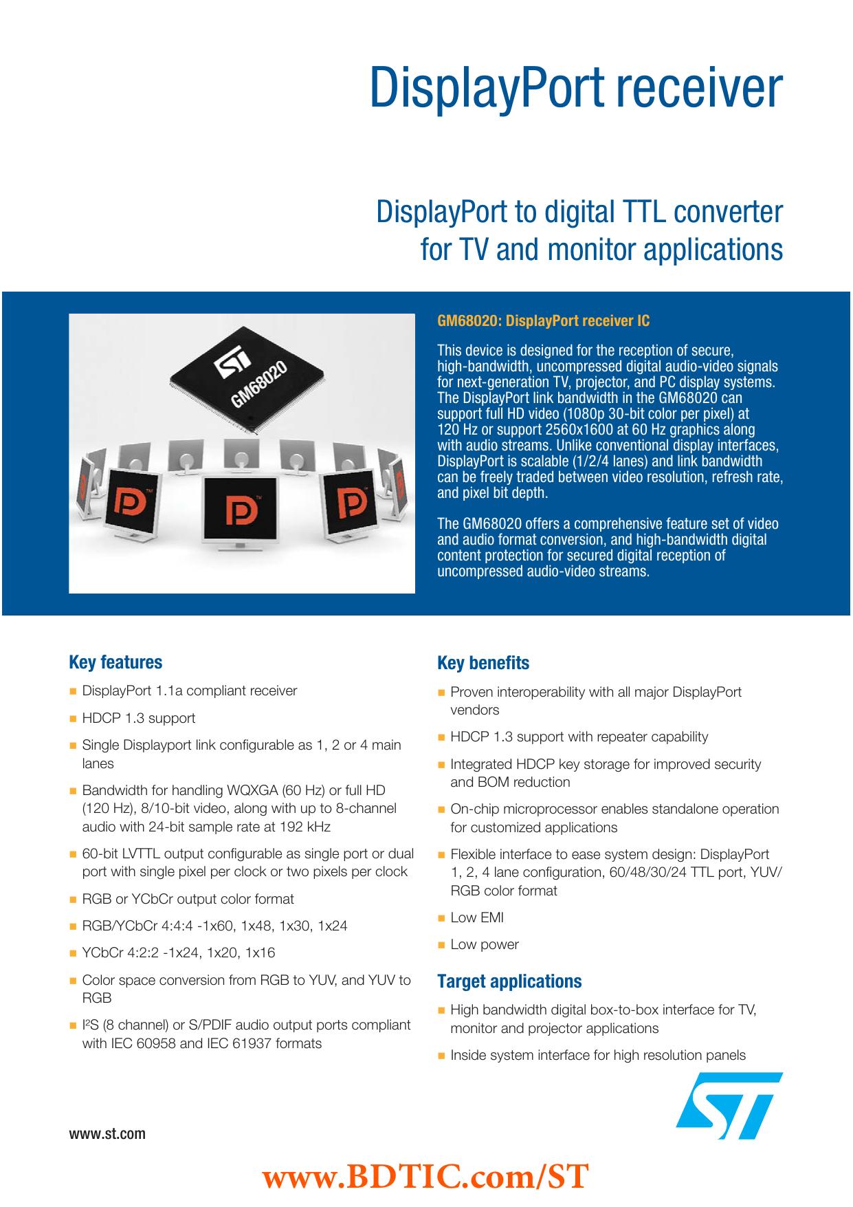 DisplayPort receiver | manualzz com