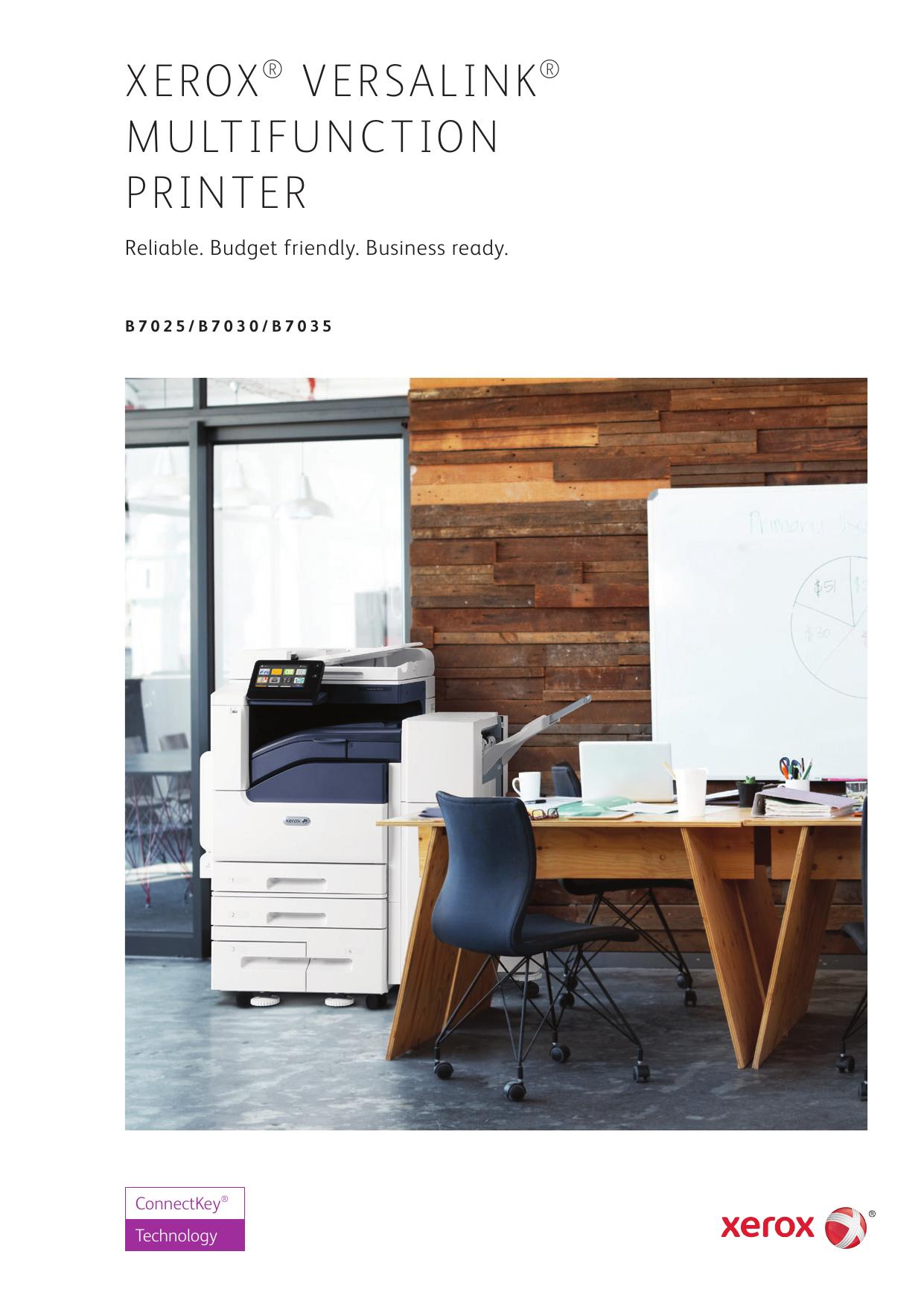 Xerox VersaLink B7025/B7030/B7035 Multifunction Printer