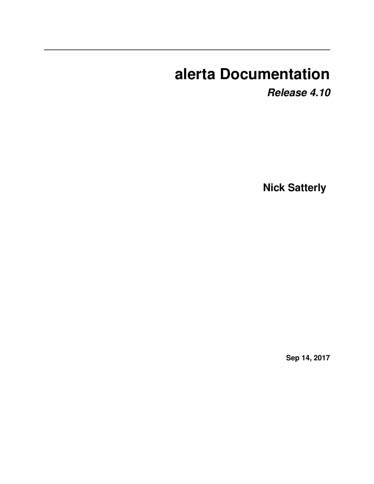 alerta Documentation   manualzz com