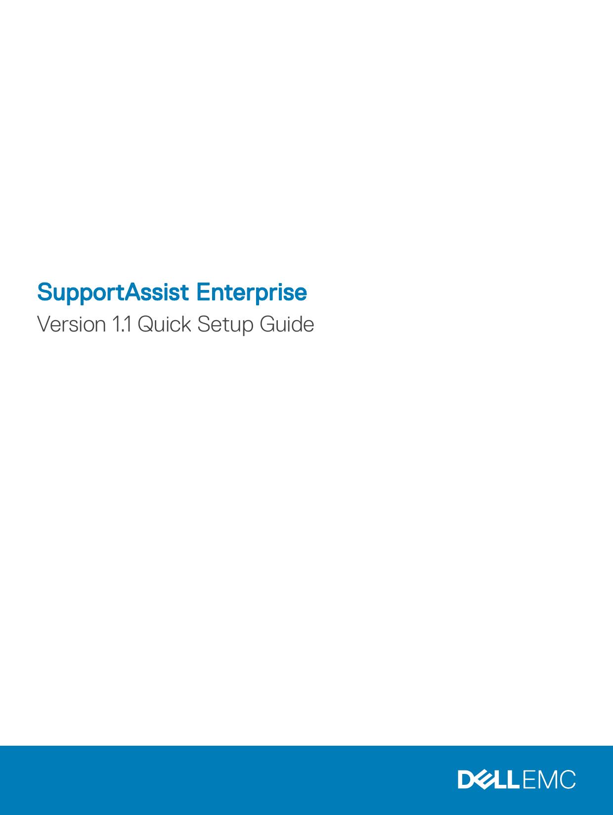 SupportAssist Enterprise Version 40.40 Quick Setup Guide   Manualzz