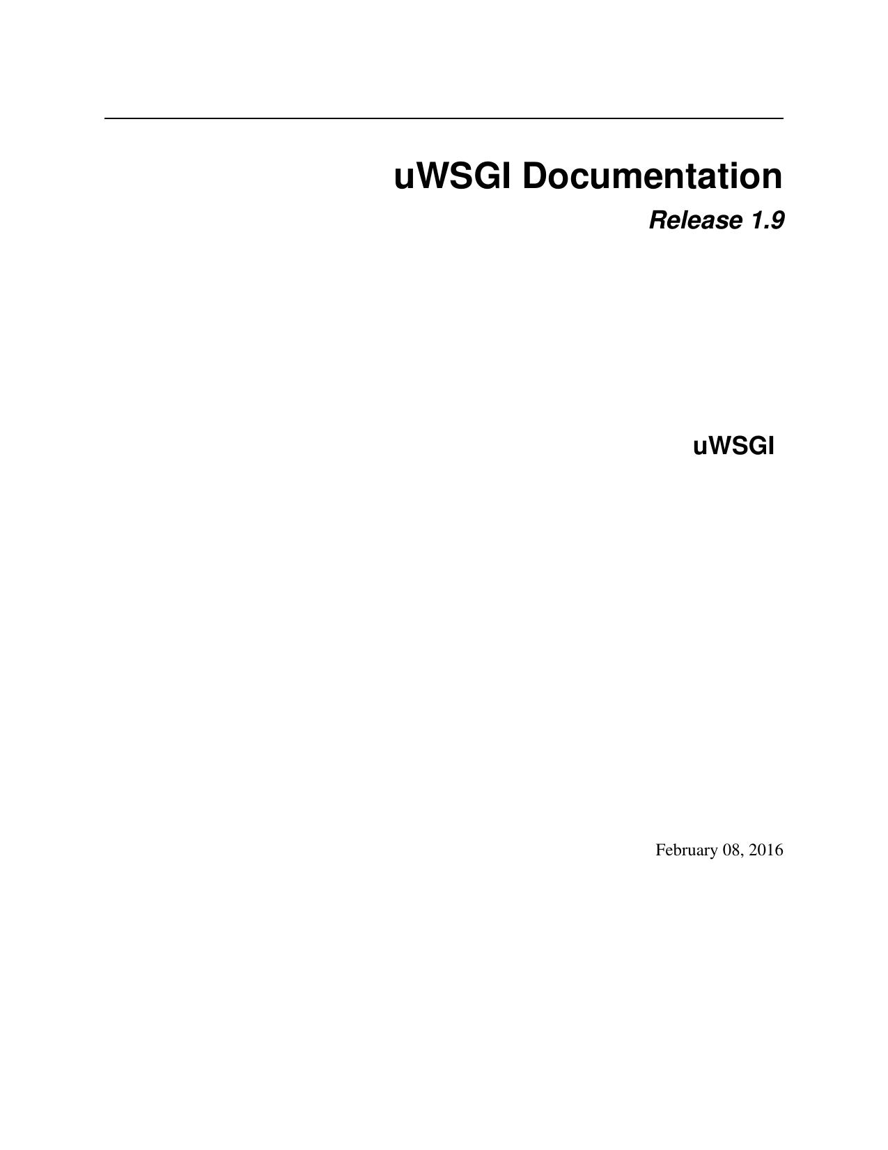 uWSGI Documentation | manualzz.com