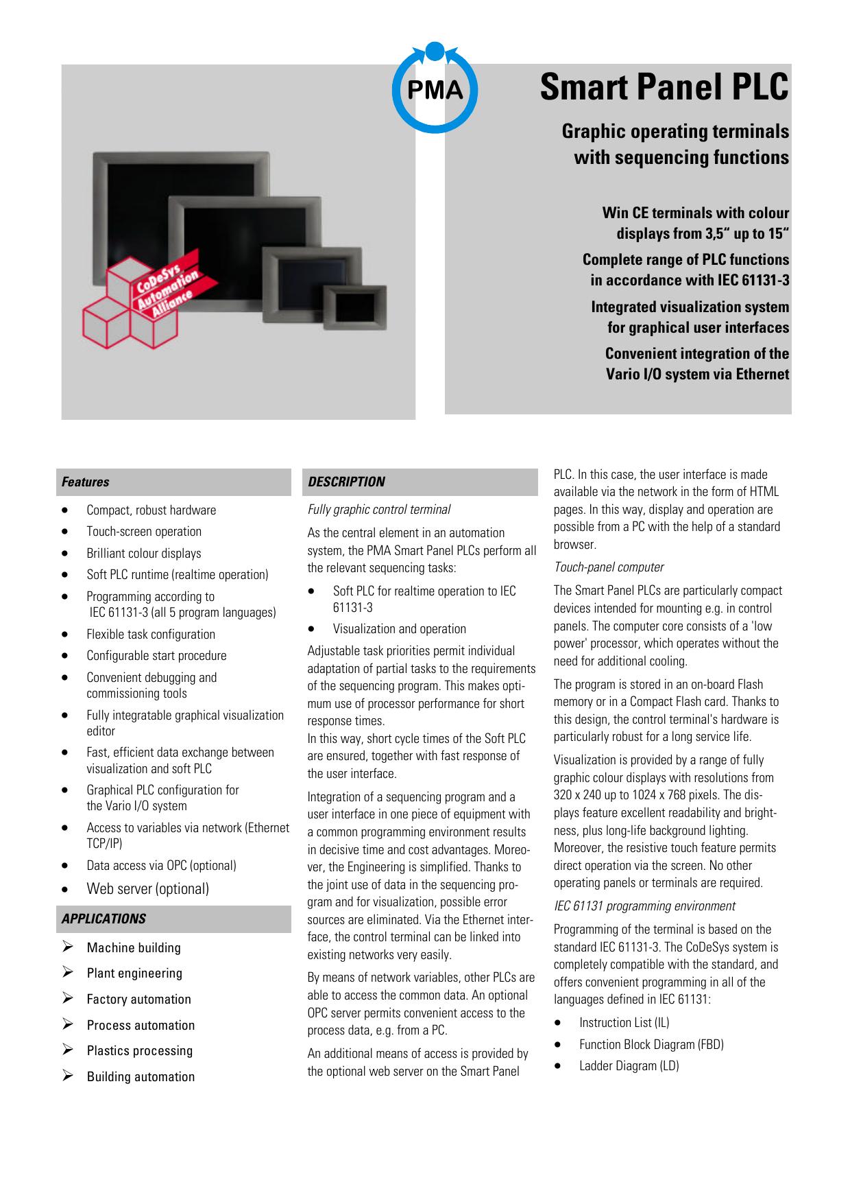 Smart Panel PLC - pma | manualzz com