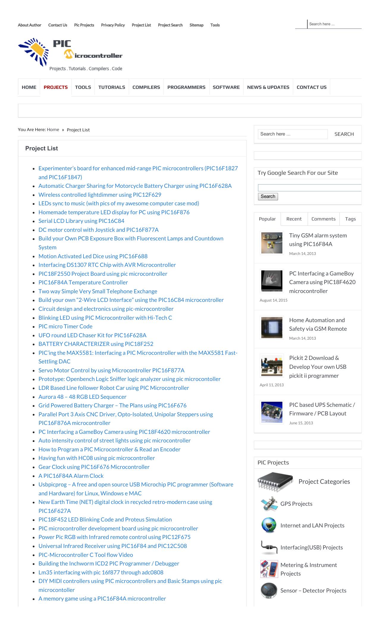 Project Categories - PIC Microcontroller | manualzz com