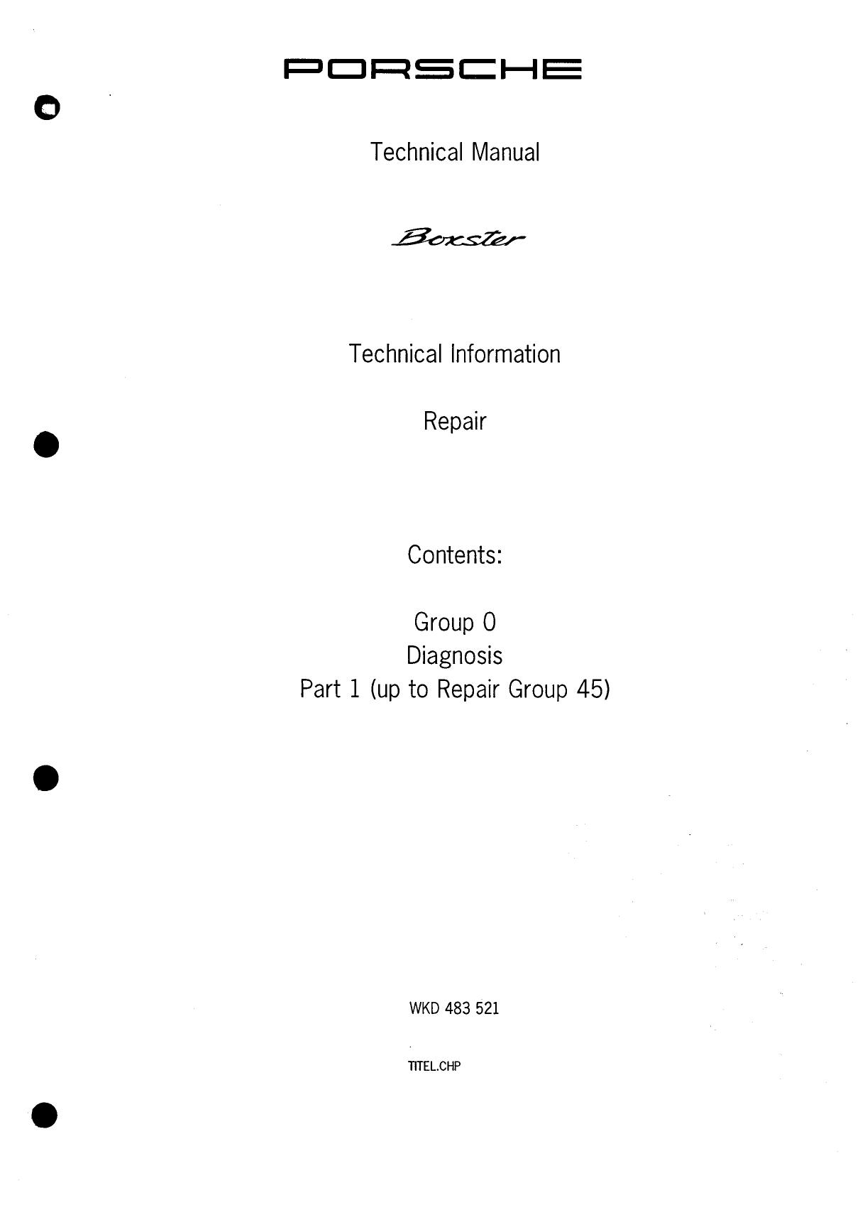 Porsche 986 Boxster Electronic Workshop Manuals | manualzz com
