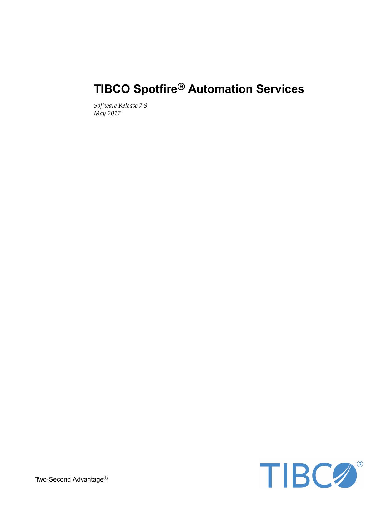 TIBCO Spotfire® Automation Services | manualzz com