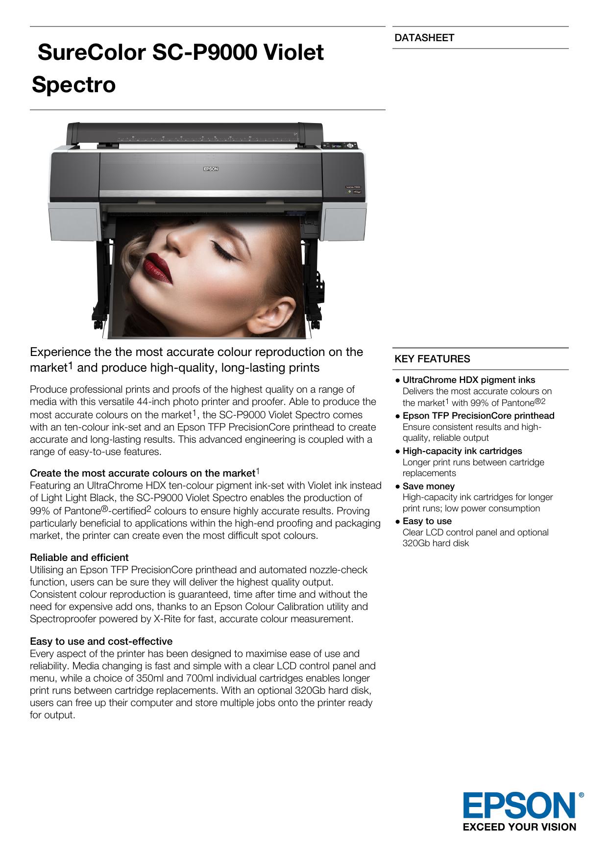 SureColor SC-P9000 Violet Spectro | manualzz com