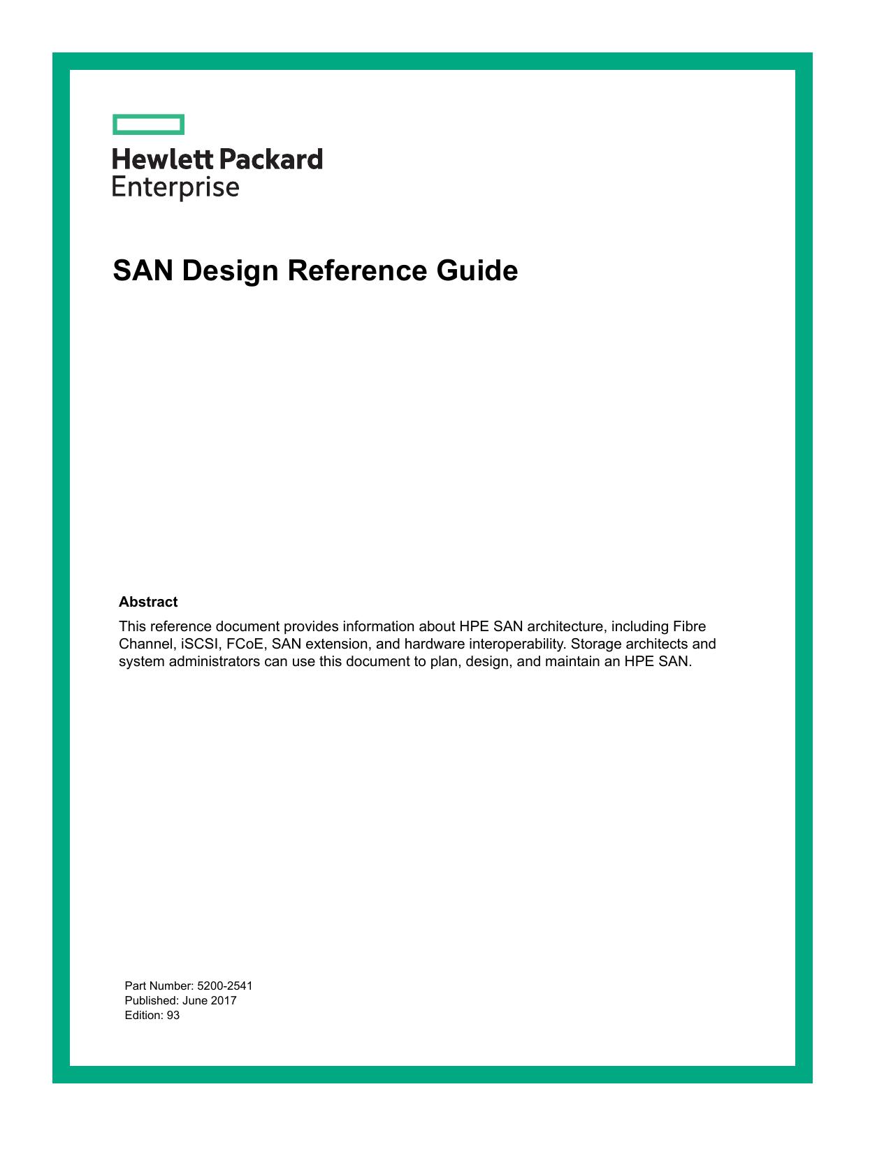 SAN Design Reference Guide | manualzz com