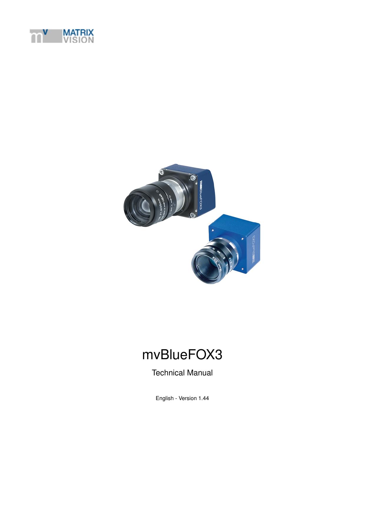 mvBlueFOX10   MATRIX VISION GmbH   Manualzz