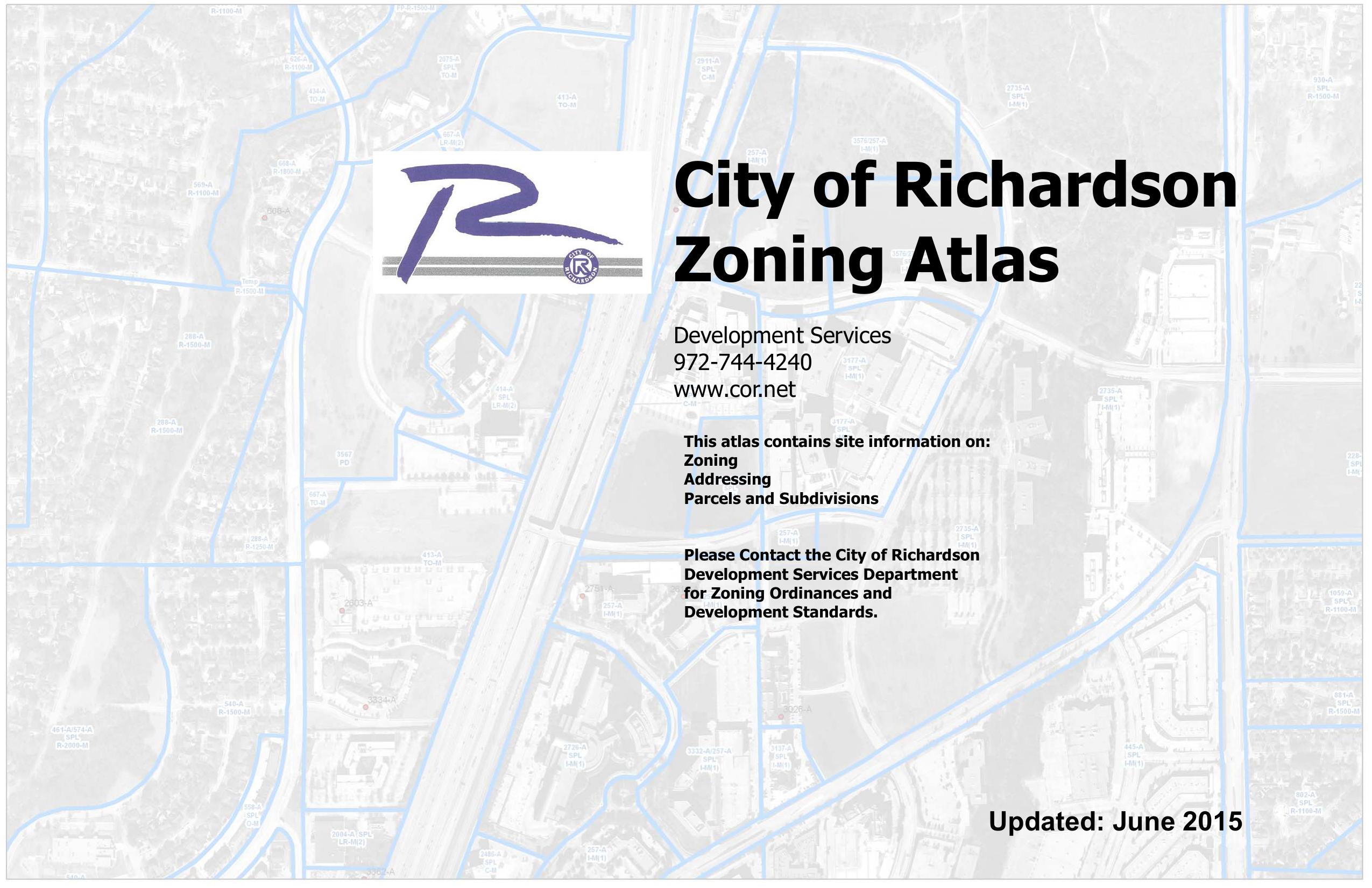 City of Richardson Zoning Atlas   manualzz com
