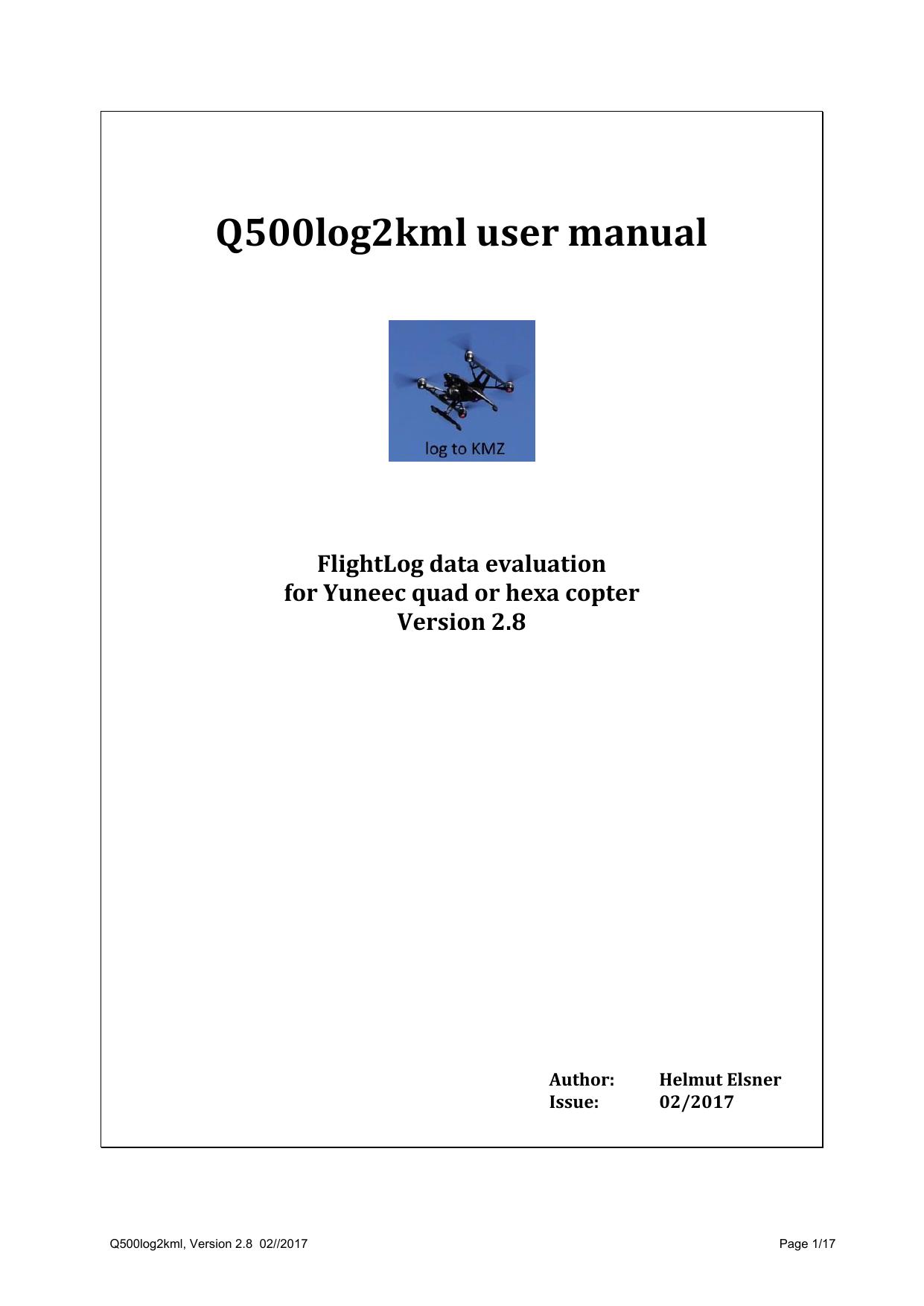 Q500log2kml user manual - b | manualzz com