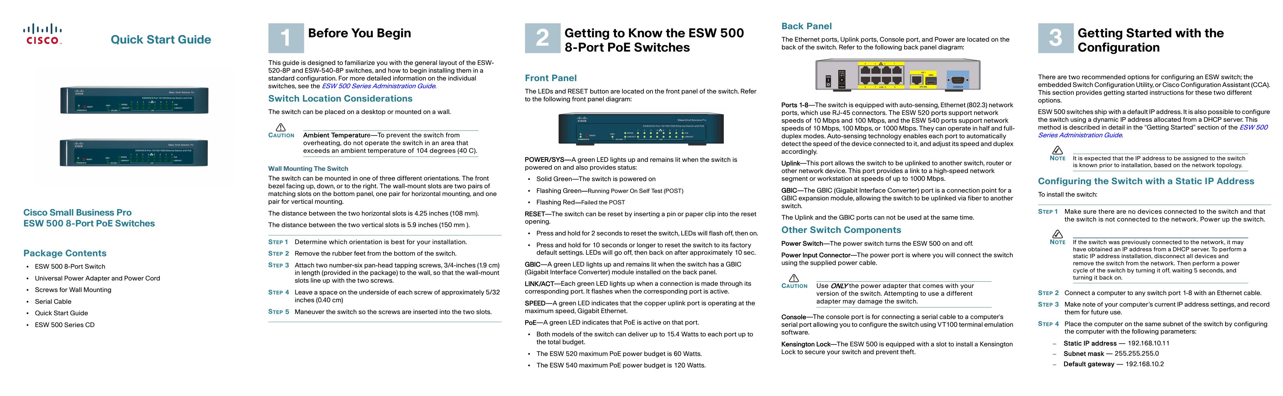 Cisco Small Business Pro ESW 500 8   manualzz com