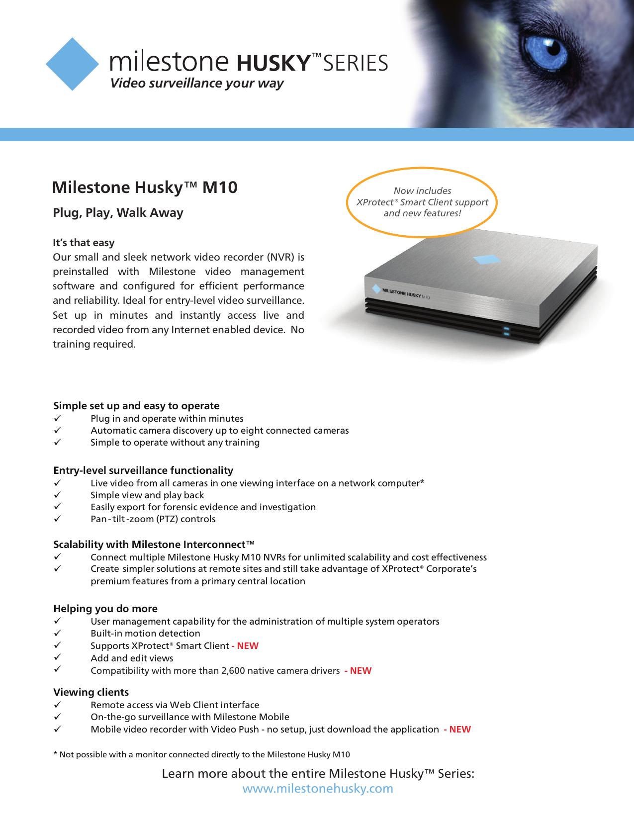 Milestone Husky™ M10 - ADI Global Distribution   manualzz com