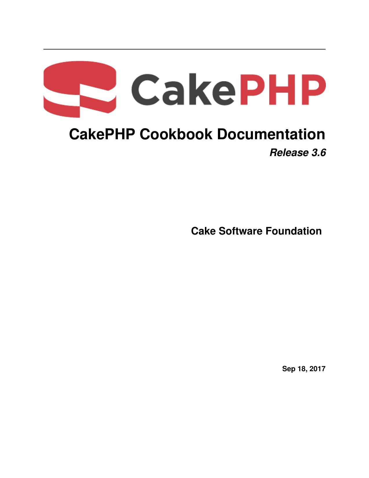 Cakephp Cookbook Documentation Manualzz