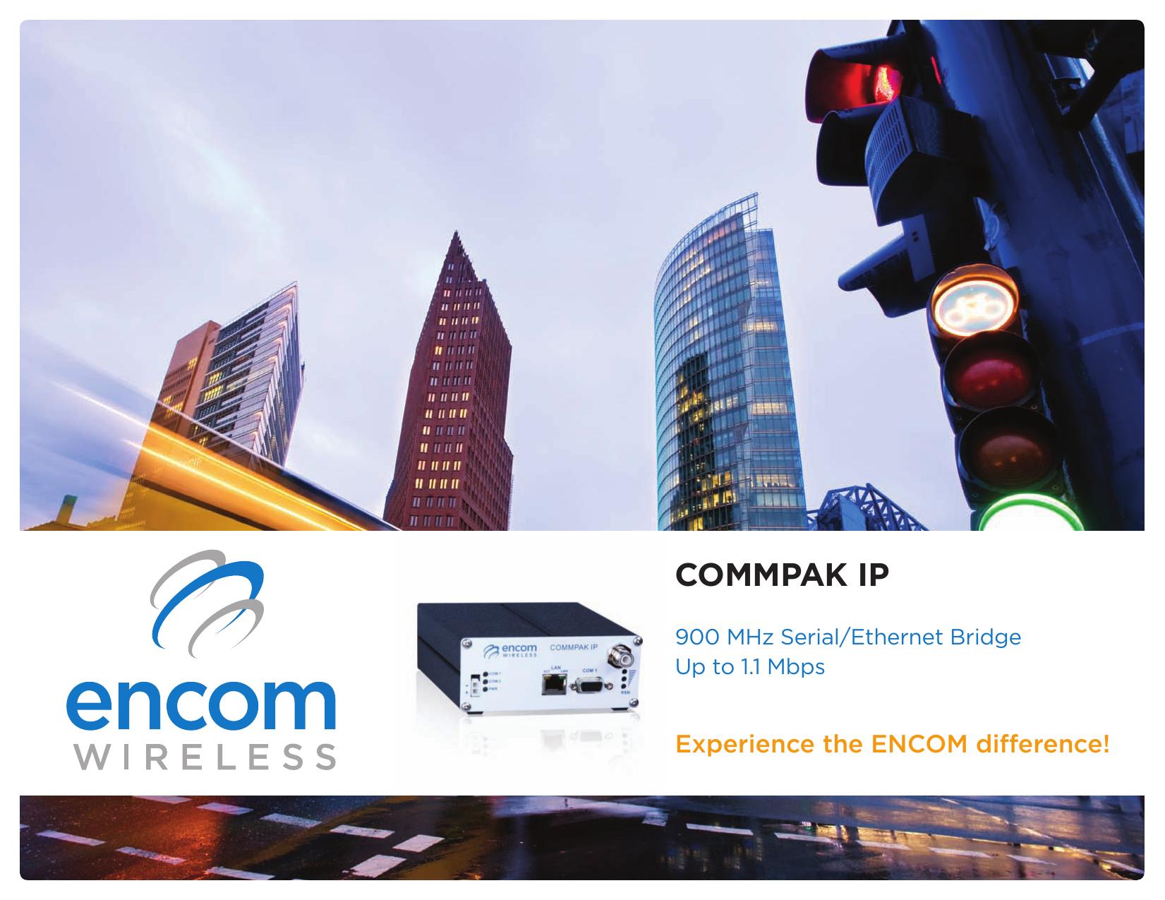 ENCOM COMMPAK IP 900MHz Serial Ethernet Bridge