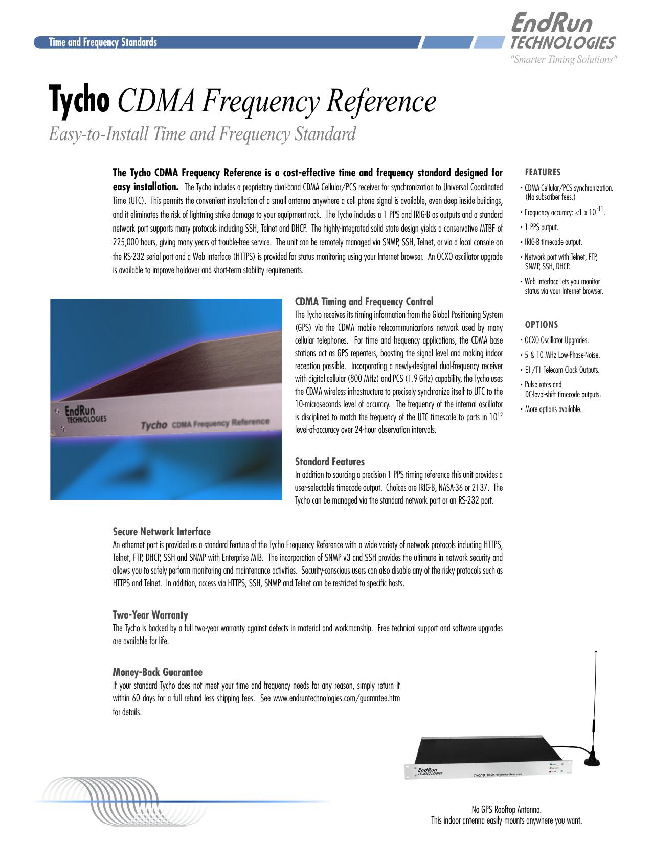 Tycho CDMA Frequency Reference | manualzz com