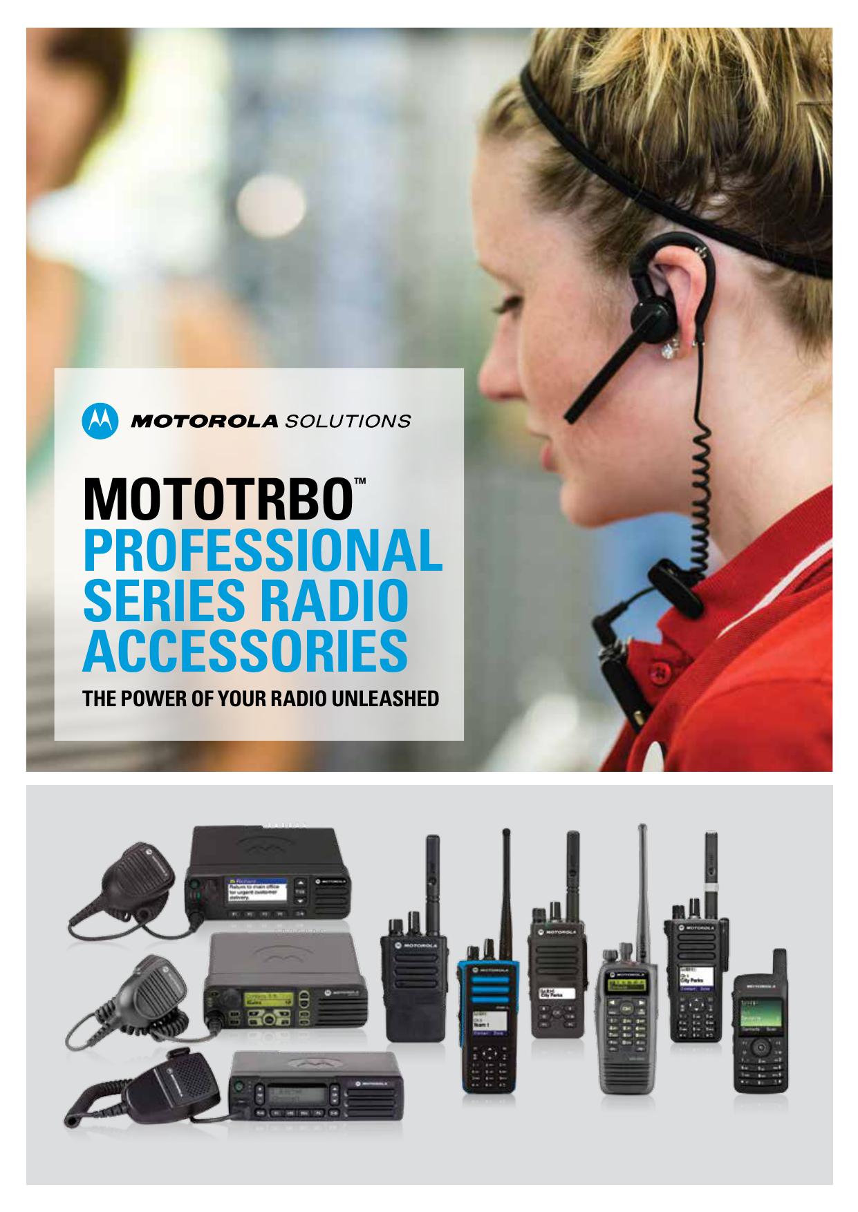 Professional Style Single Muff Headset PTT Mic for Motorola SL1K SL2K SL1M